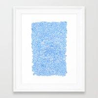 Water Wind Doodle Framed Art Print