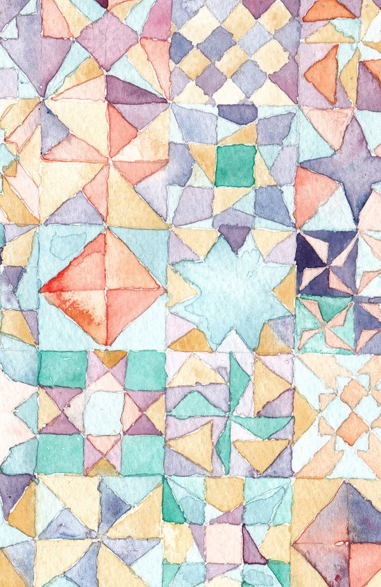 watercolour quilt Art Print