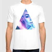 Technicolor Triangle Sh*… Mens Fitted Tee White SMALL