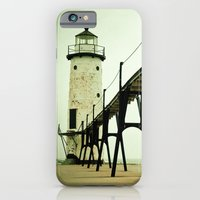 beach iPhone & iPod Cases featuring Manistee Light by Olivia Joy StClaire