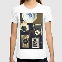 Vintage Camera Collectio… Womens Fitted Tee White SMALL