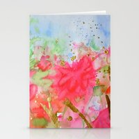 Le Jardin Coral Stationery Cards