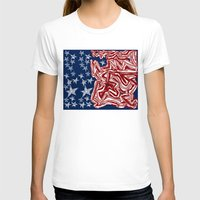 flag T-shirts featuring American Flag by Brontosaurus