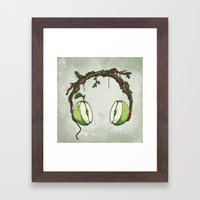 Apple Beats Framed Art Print