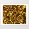 Collage in  Fall Art Print