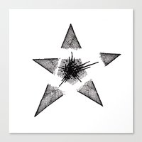 Exploding Star Canvas Print