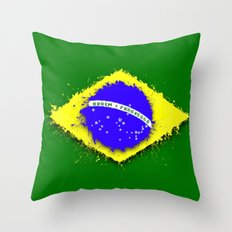in to the sky, Brazil Throw Pillow