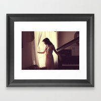 His Letter Framed Art Print