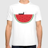 Watermelon Fisher Mens Fitted Tee White SMALL