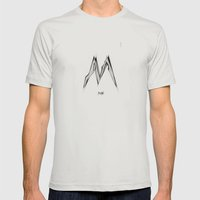 MILAN Mens Fitted Tee Silver SMALL
