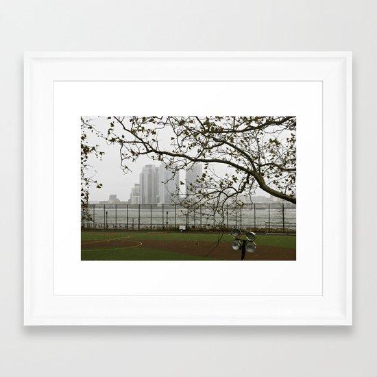 Day after Hurricane Sandy Framed Art Print