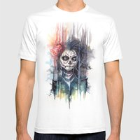 Sugar Skull - Calavera D… Mens Fitted Tee White SMALL