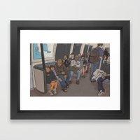 SUBWAY CROWD Framed Art Print