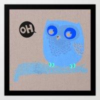 Oh-Owl~ Art Print