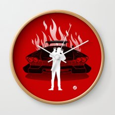 Christine (Red Collection) Wall Clock
