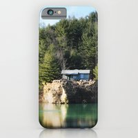 iPhone & iPod Case featuring Cabin on the Lake by Captive Images Photography