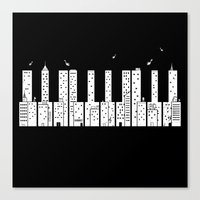 Piano Skyline Canvas Print