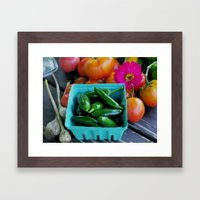 Jalapeno Peppers Framed Art Print