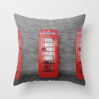 Phone Box Fun Throw Pillow