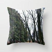 Cemetery green Throw Pillow