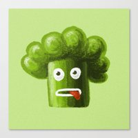 Stressed Out Broccoli Canvas Print