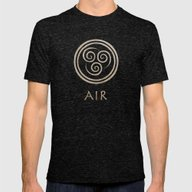 Avatar Last Airbender - … Mens Fitted Tee Tri-Black SMALL