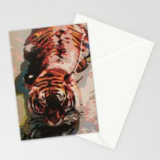Tiger in the Water Painting Stationery Cards