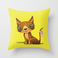 The Great Gold Meow Throw Pillow