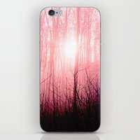 Pink fog in the forest iPhone & iPod Skin