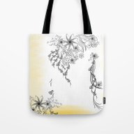 Floral To Floral Tote Bag