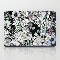 Colorful black detailed floral pattern iPad Case
