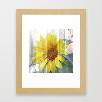 Sunflower Glow Framed Art Print