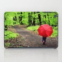 rainy woods iPad Case