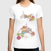 Country Garden Womens Fitted Tee White SMALL