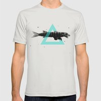 Bearracuda Mens Fitted Tee Silver SMALL