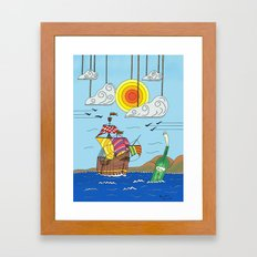 OLD BOY PIRATE Framed Art Print
