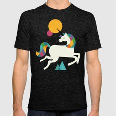 To be a unicorn Mens Fitted Tee Tri-Black SMALL