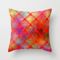 Strawberry Hearts Throw Pillow