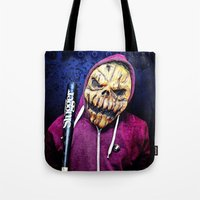 Smashing Pumpkin Portrait Tote Bag