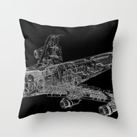 Boing 747 Throw Pillow