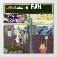 FJH ✮ Streets Of Cuzzy… Canvas Print