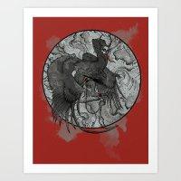 Winged Krampus Art Print