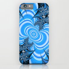 Blue and silver thorns fractal Slim Case iPhone 6s
