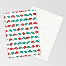 Elephants  Stationery Cards
