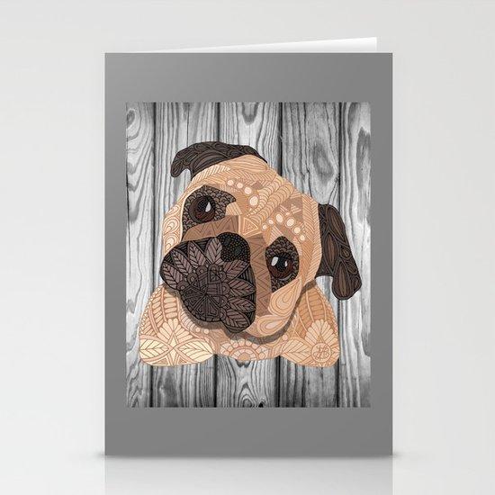 Pug Hug Stationery Card