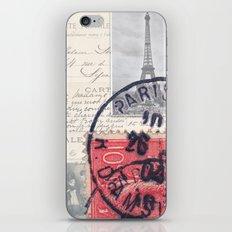 Postale Paris iPhone & iPod Skin