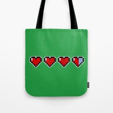 Pixel Hearts Tote Bag