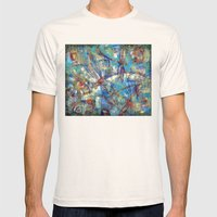 Dragonflies In Blue Mens Fitted Tee Natural SMALL