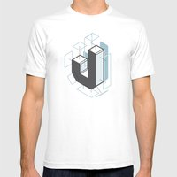 The Exploded Alphabet / J Mens Fitted Tee White SMALL