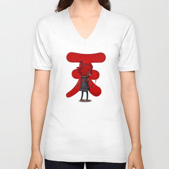 Raging Demon V-neck T-shirt